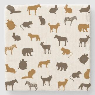 Animal pattern 1 stone coaster