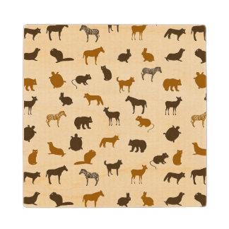 Animal pattern 1 wood coaster