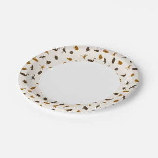 Animal pattern 2 7 inch paper plate
