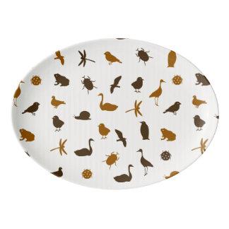 Animal pattern 2 porcelain serving platter