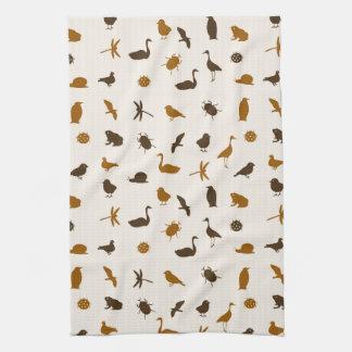 Animal pattern 2 tea towel