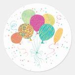 Animal Pattern Birthday Balloons Stickers