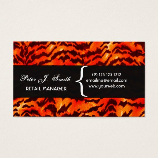 ANIMAl Pattern Design Leopard Print  Pattern Business Card