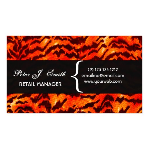 ANIMAl Pattern Design Leopard Print  Pattern Pack Of Standard Business Cards