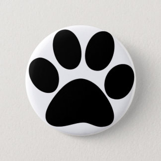 Animal Paw 6 Cm Round Badge
