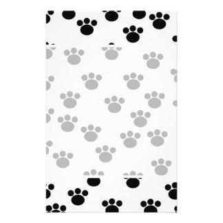Animal Paw Print Pattern. Black and White. 14 Cm X 21.5 Cm Flyer