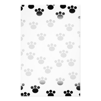 Animal Paw Print Pattern. Black and White. 14 Cm X 21.5 Cm Flyer