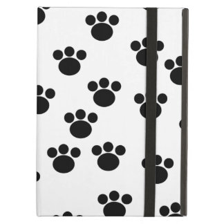 Animal Paw Print Pattern. Black and White. Cover For iPad Air