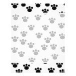 Animal Paw Print Pattern. Black and White. Flyer Design