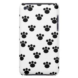 Animal Paw Print Pattern. Black and White. iPod Case-Mate Case