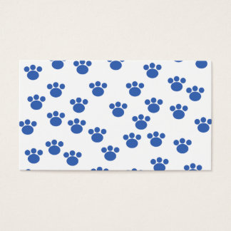 Animal Paw Print Pattern. Blue and White.