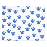 Animal Paw Print Pattern. Blue and White. Personalized Flyer