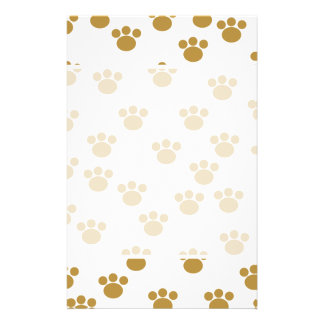 Animal Paw Prints. Brown and White Pattern. 14 Cm X 21.5 Cm Flyer
