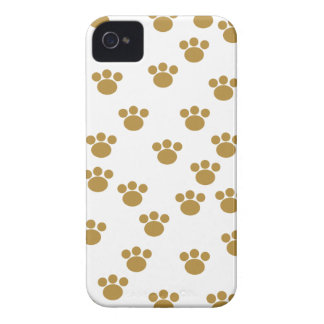 Animal Paw Prints. Brown and White Pattern. Case-Mate iPhone 4 Case