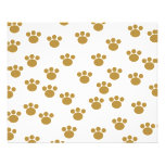 Animal Paw Prints. Brown and White Pattern. Personalized Flyer