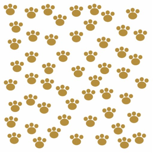 Animal Paw Prints. Brown and White Pattern. Acrylic Cut Out