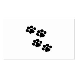 Animal Paw Prints Business Cards