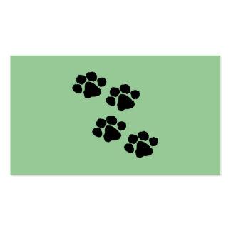 Animal Paw Prints Business Card Templates