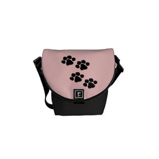 Animal Paw Prints Courier Bag