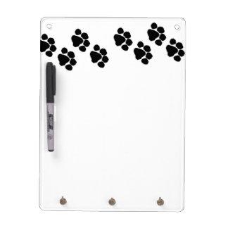 Animal Paw Prints Dry Erase Board
