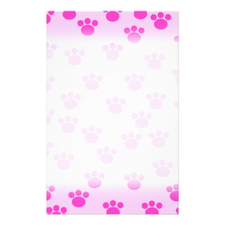 Animal Paw Prints. Light Pink and Bright Pink. 14 Cm X 21.5 Cm Flyer