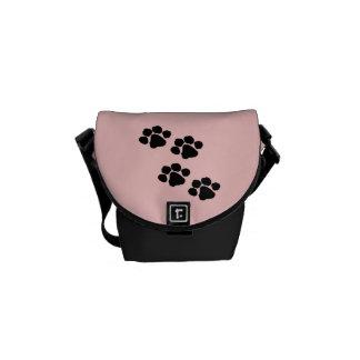 Animal Paw Prints Messenger Bag
