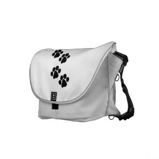 Animal Paw Prints Messenger Bags