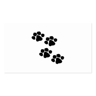 Animal Paw Prints Pack Of Standard Business Cards