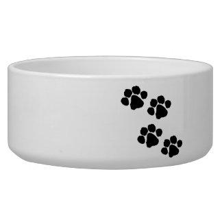 Animal Paw Prints Pet Food Bowls