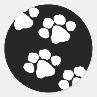 Animal Paw Prints Stickers