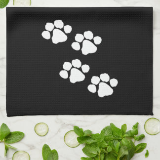 Animal Paw Prints Tea Towel