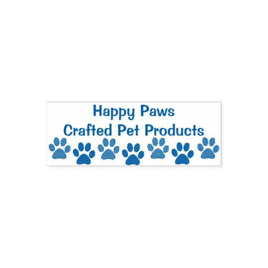 Animal Paw Prints with Text Self Inking Stamp