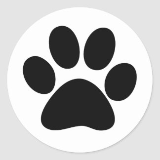 Animal Paw Round Sticker