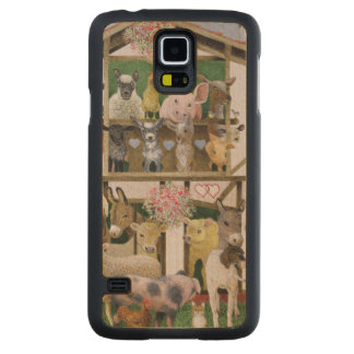 Animal Playhouse Carved Maple Galaxy S5 Case