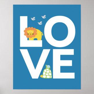 Animal Poster LOVE print