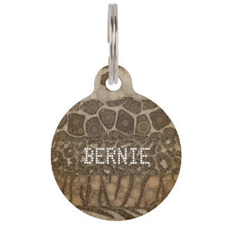 Animal Print Abstract Pet Tag