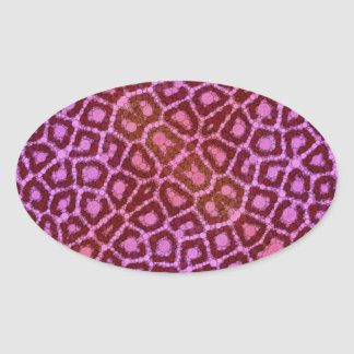 Animal Print Abstract Oval Sticker