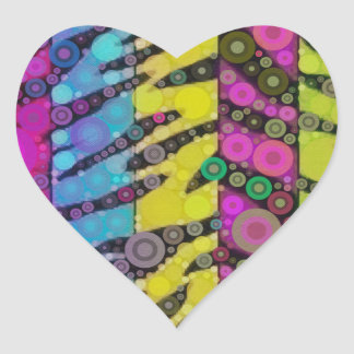 Animal Print Abstract Heart Sticker
