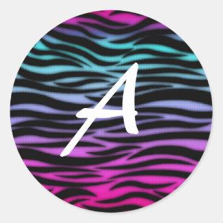 animal print alphabet sticker