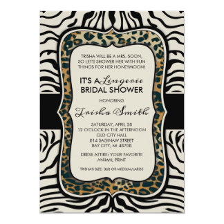 Animal Print Bridal Shower Invitation