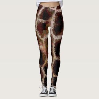 Animal Print Brown Leggings
