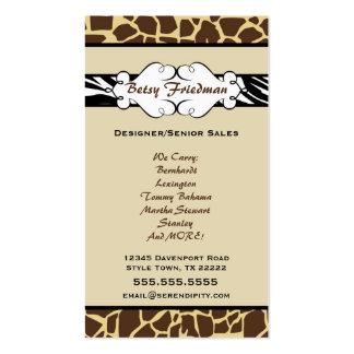 Animal Print Business Card
