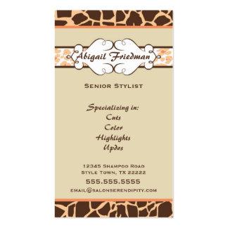 Animal Print Business Card: Orange
