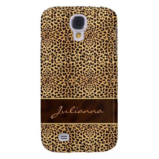 Animal Print Cheetah in Natural Hues Galaxy S4 Case