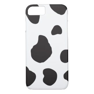 Animal Print, Cow Print, Spotted Cow - White Black iPhone 8/7 Case
