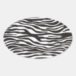Animal Print Fur Skin Zebra Black White Sticker