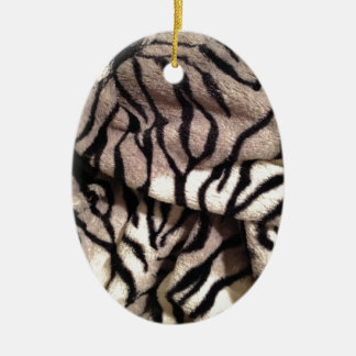 Animal Print - Furry Stripes Ceramic Oval Decoration