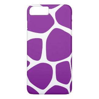 Animal Print (Giraffe Pattern) - Purple White iPhone 8 Plus/7 Plus Case