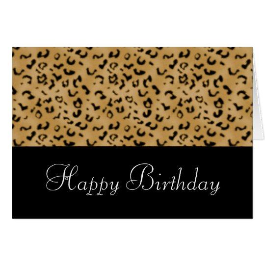 Animal Print Happy Birthday Card (Customisable)