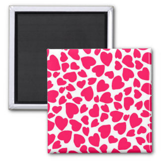 Animal Print Heart 2014 Square Magnet